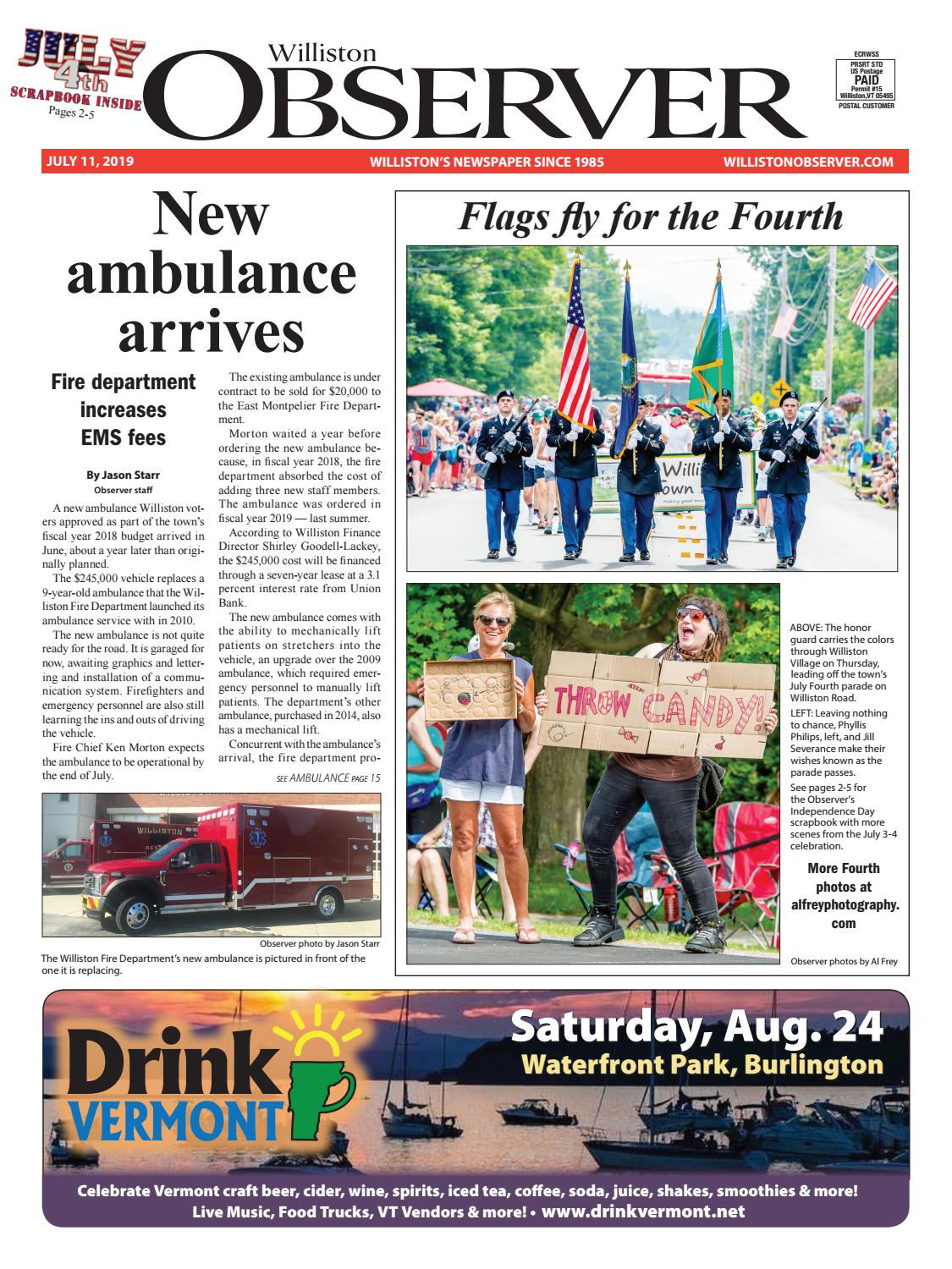 Colchester Vermont Events July 13 2020.Williston Observer 7 11 19 By Williston Publishing Issuu