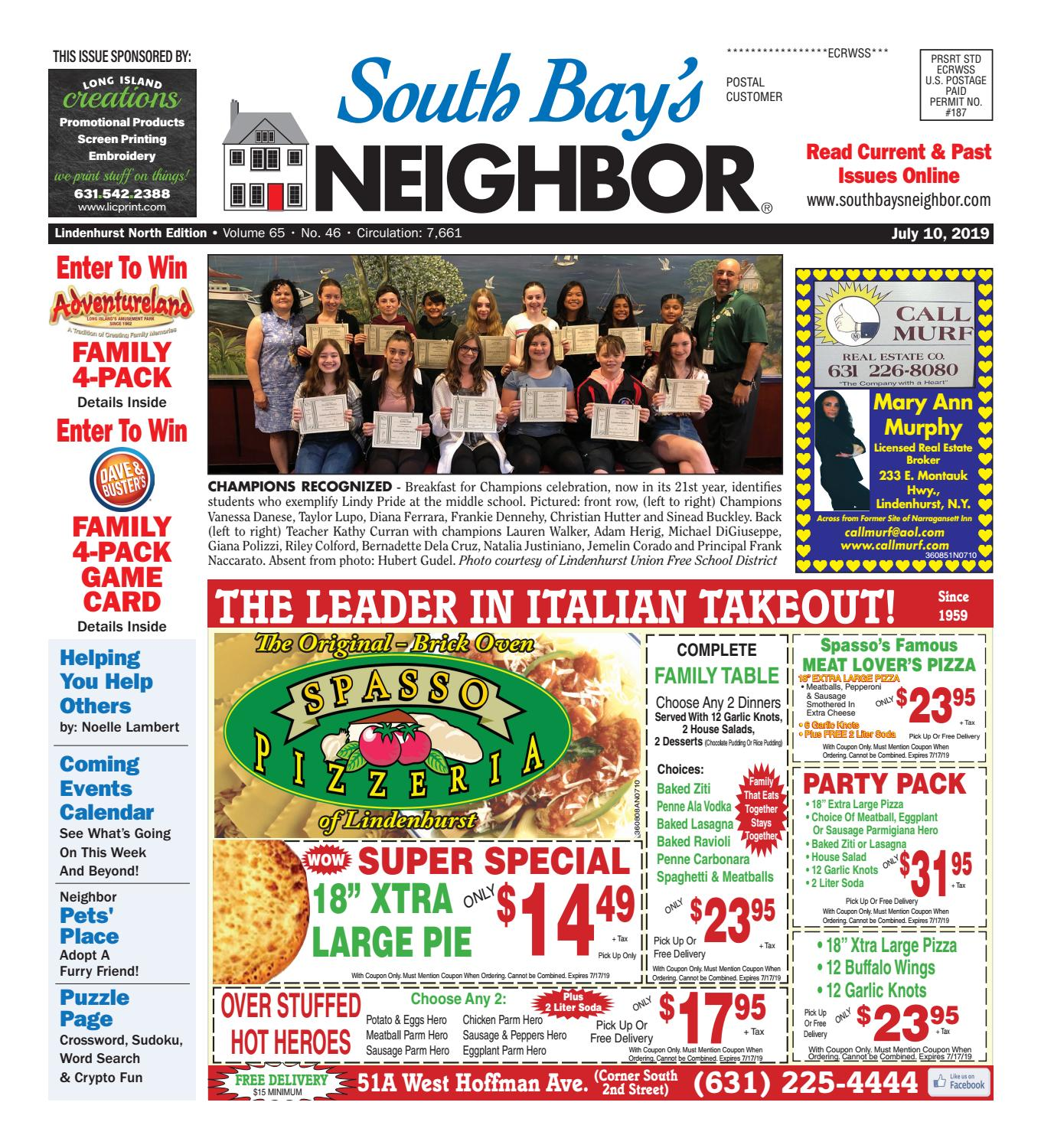 July 10, 2019 Lindenhurst North by South Bay's Neighbor Newspapers