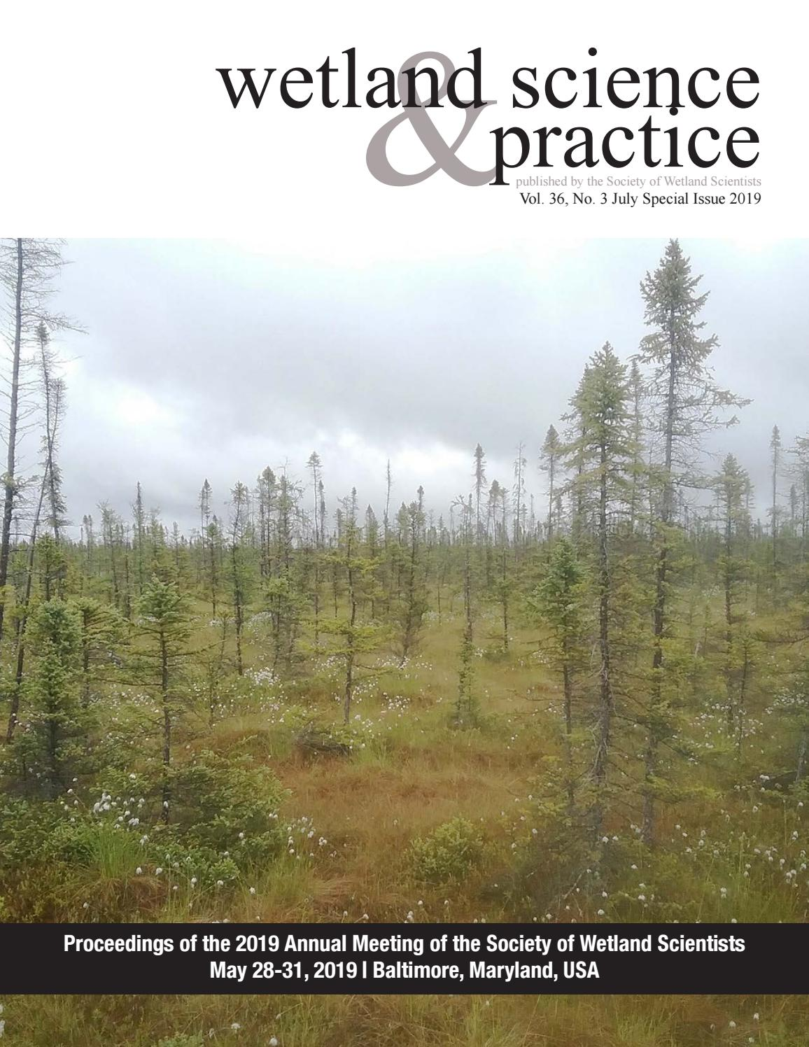 July 2019 Wetland Science & Practice Special Issue by Society of