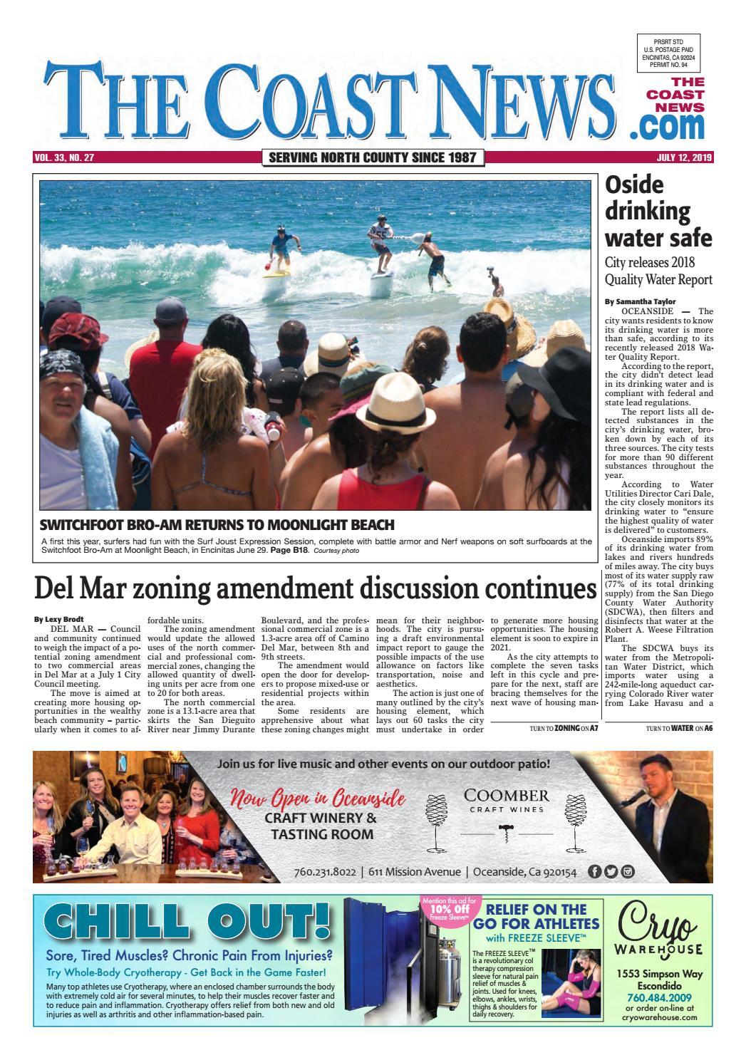 The Coast News, July 12, 2019 by Coast News Group - issuu
