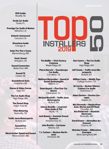 Page 15 of What's Happening: Top 50 Installers and Retailers