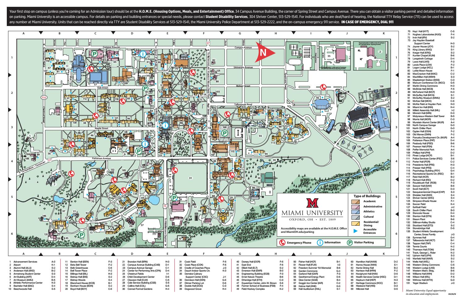 miami hamilton campus map Miami University Campus Map By Splice Ensemble Issuu miami hamilton campus map