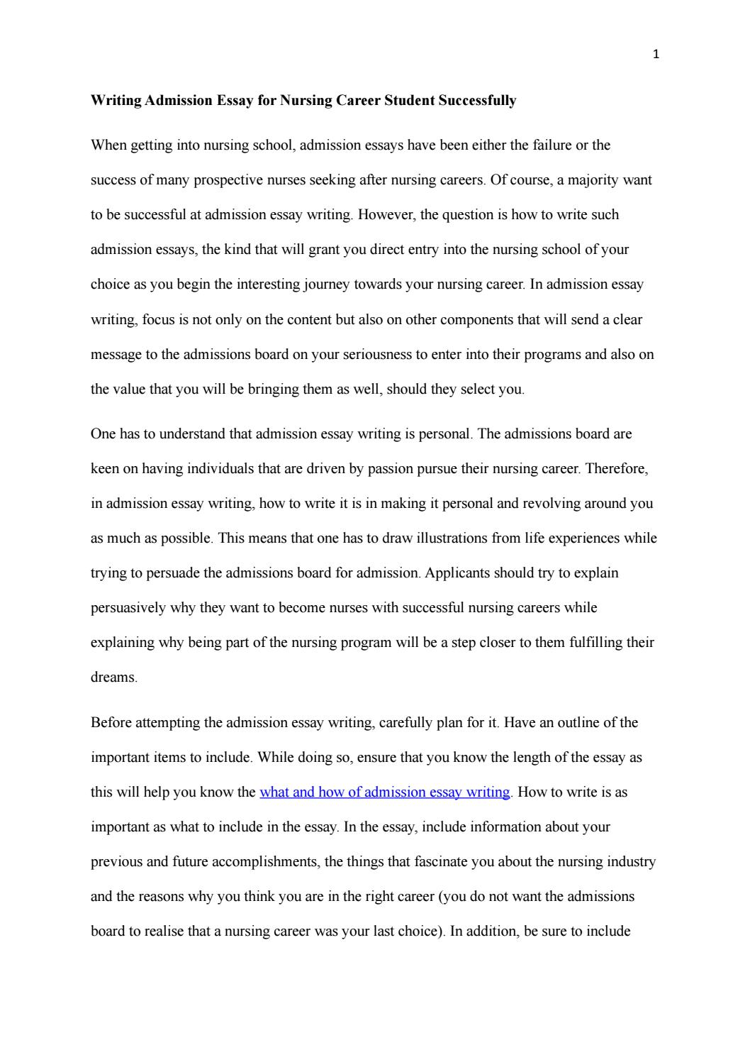 Admission essay writing 8 tracks