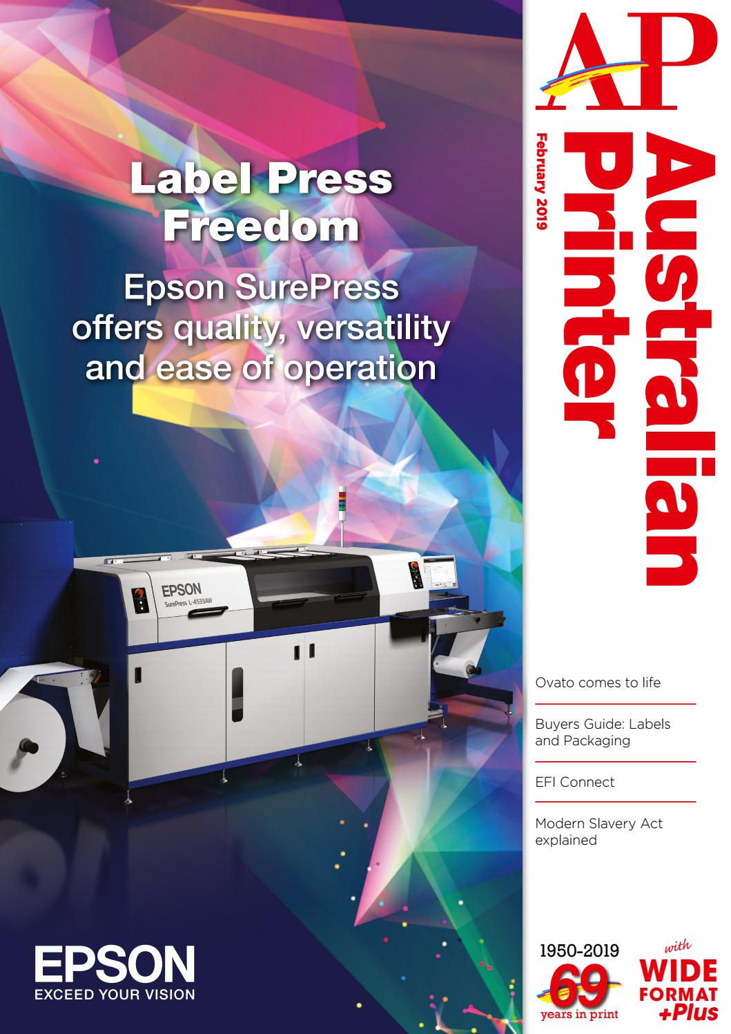 Australian Printer February 2019 by The Intermedia Group - issuu