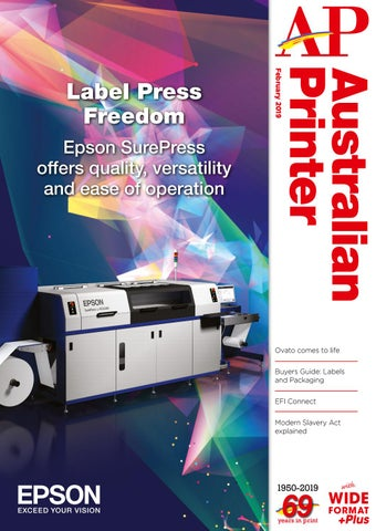 Australian Printer February 2019 by The Intermedia Group - issuu