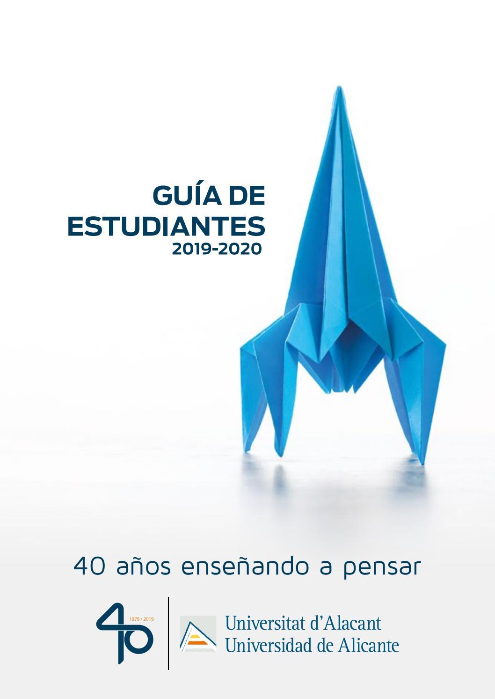 Calendario Examenes Derecho Us.Guia De Estudiantes De La Universidad De Alicante Curso 2019 20 By