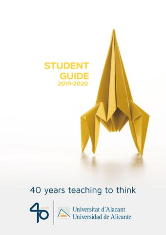 Usc Academic Calendar 2014-2020 Student Guide 2019 20 University of Alicante by Oficina de