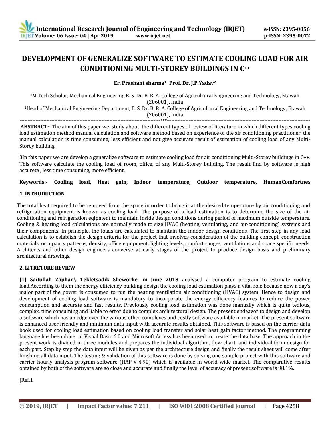 IRJET- Development of Generalize Software to Estimate