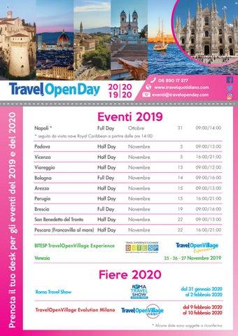 Fiera Vicenza 2020 Calendario.Travelopen2day Calendario 2019 2020 Dem By Travelquotidiano