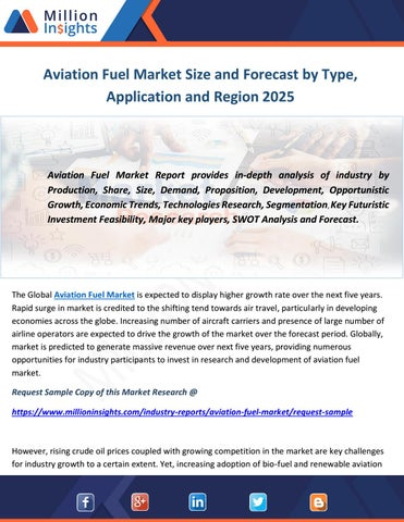 Aviation Fuel Market Size and Forecast by Type, Application and