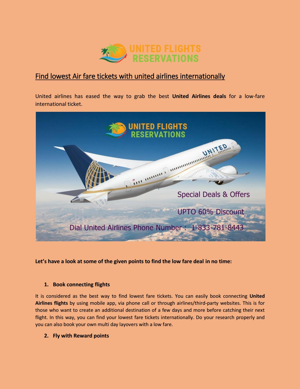 Special Deals And Seasonal Discounts On United Airlines Flights By Unitedflights Reservations Issuu