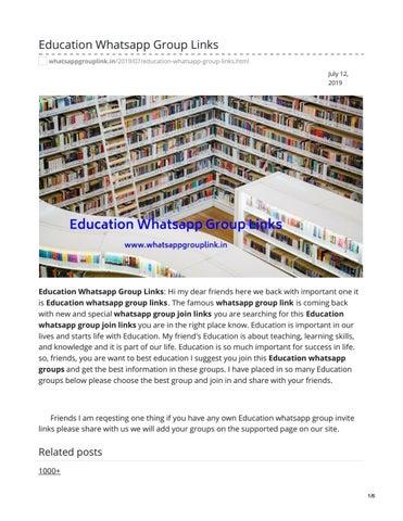 Education Whatsapp Group Links by whatsappgrouplink77 - issuu