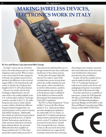 Page 12 of Making Wireless Devices, Electronics Work In Italy