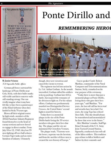 Page 6 of Ponte Dirillo and Operation Husky Remembering Heroes 76 Years Later