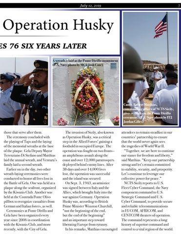 Page 7 of Ponte Dirillo and Operation Husky Remembering Heroes 76 Years Later