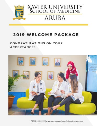 2019 Welcome packet by Xavier University School of Medicine