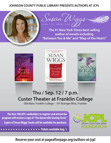 Page 6 of Authors at JCPL, Susan Wiggs