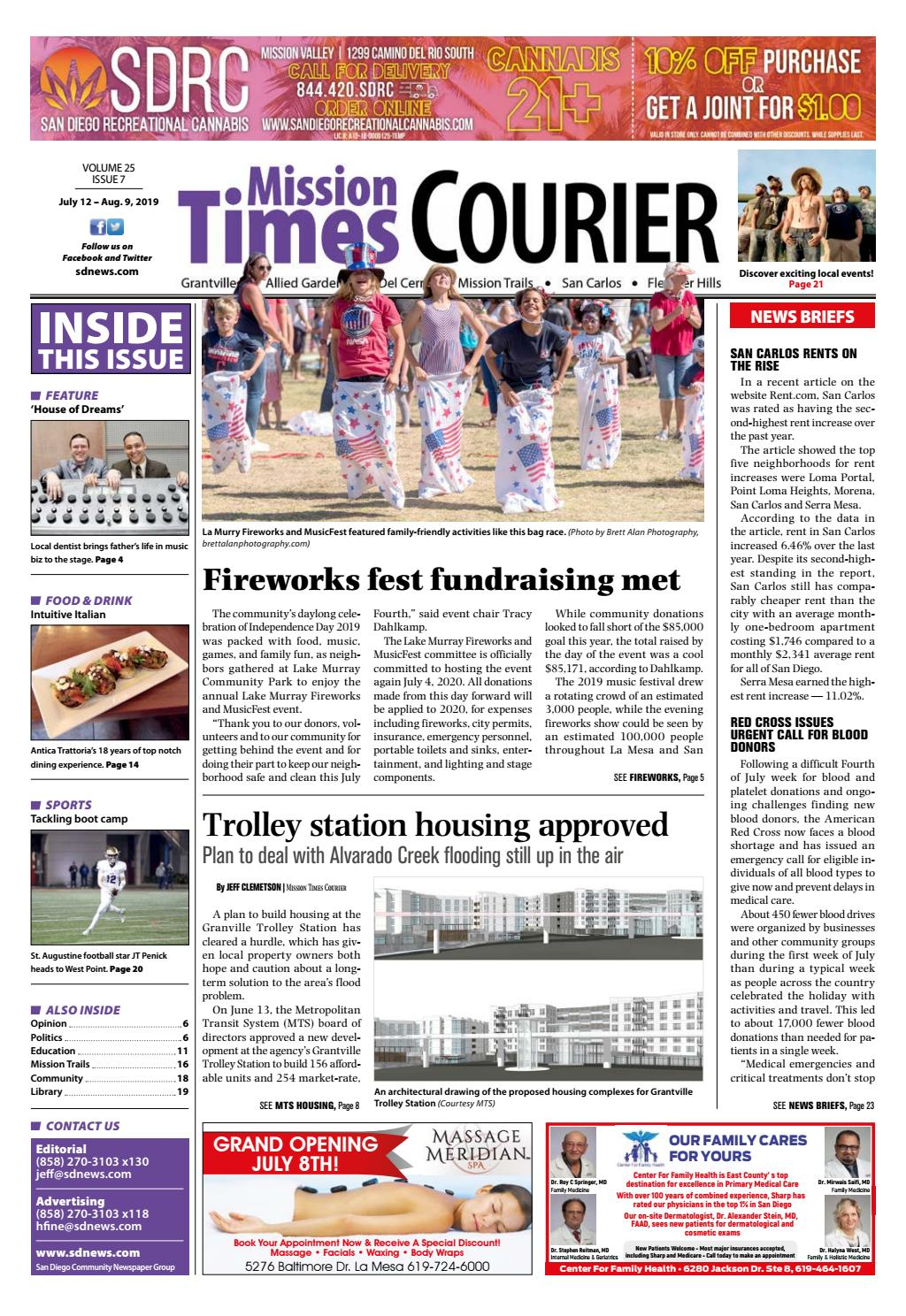 Mission Times Courier Volume 25, Issue 7 July 12, 2019