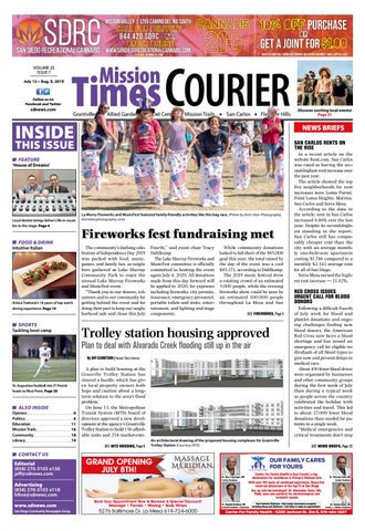 Mission Times Courier - Volume 25, Issue 7 - July 12, 2019