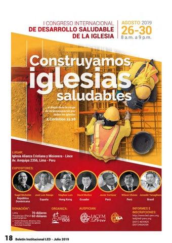 Page 18 of I Congreso Desarrollo Saludable de la Iglesia