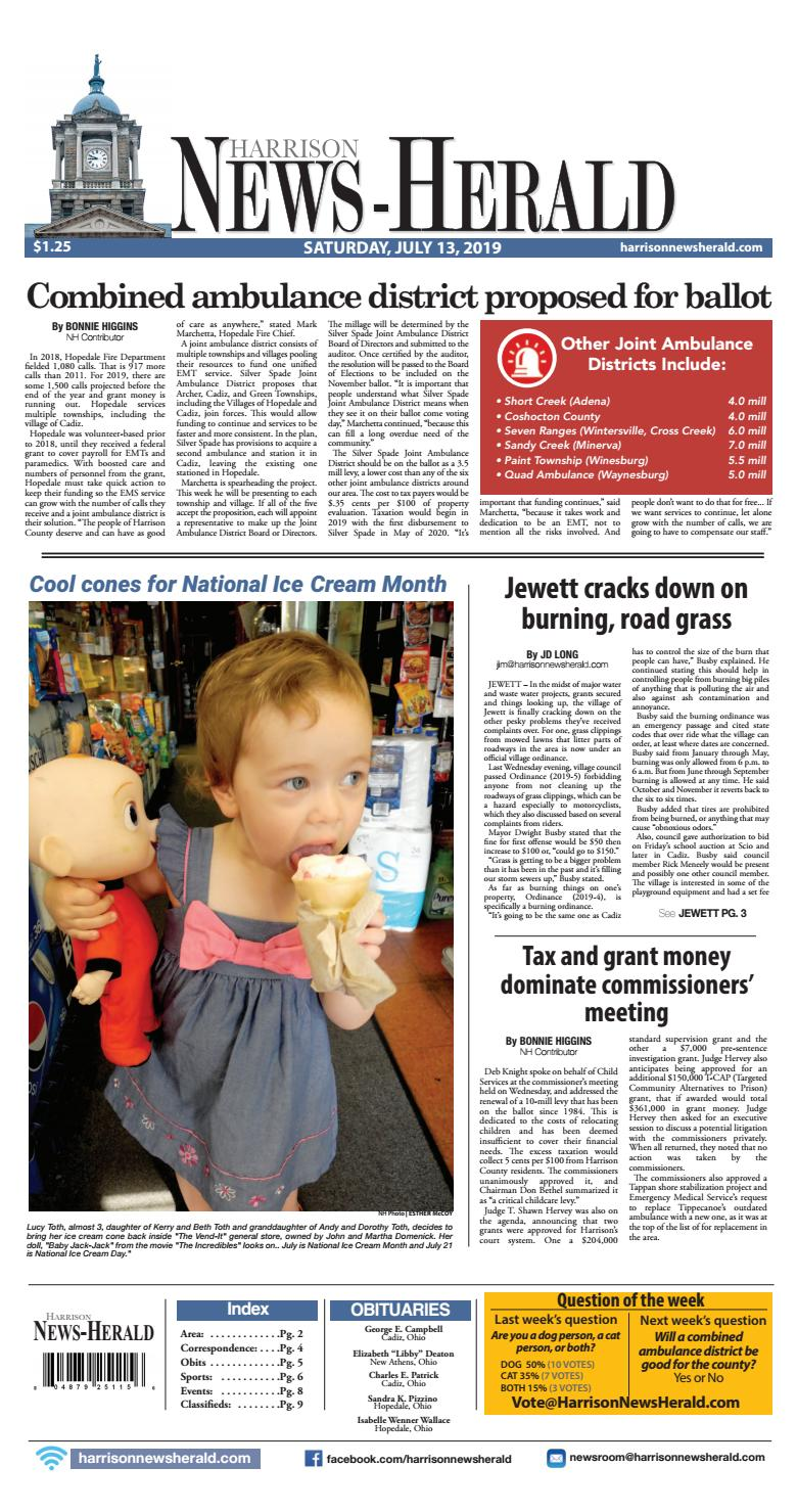 Harrison News Herald 07-13-19 by Schloss Media - issuu