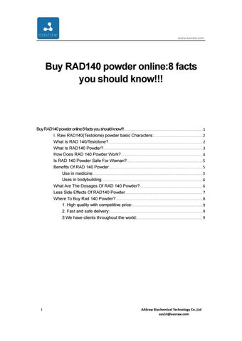 Buy RAD140 powder online8 facts you should know!!! by AASraw--raw