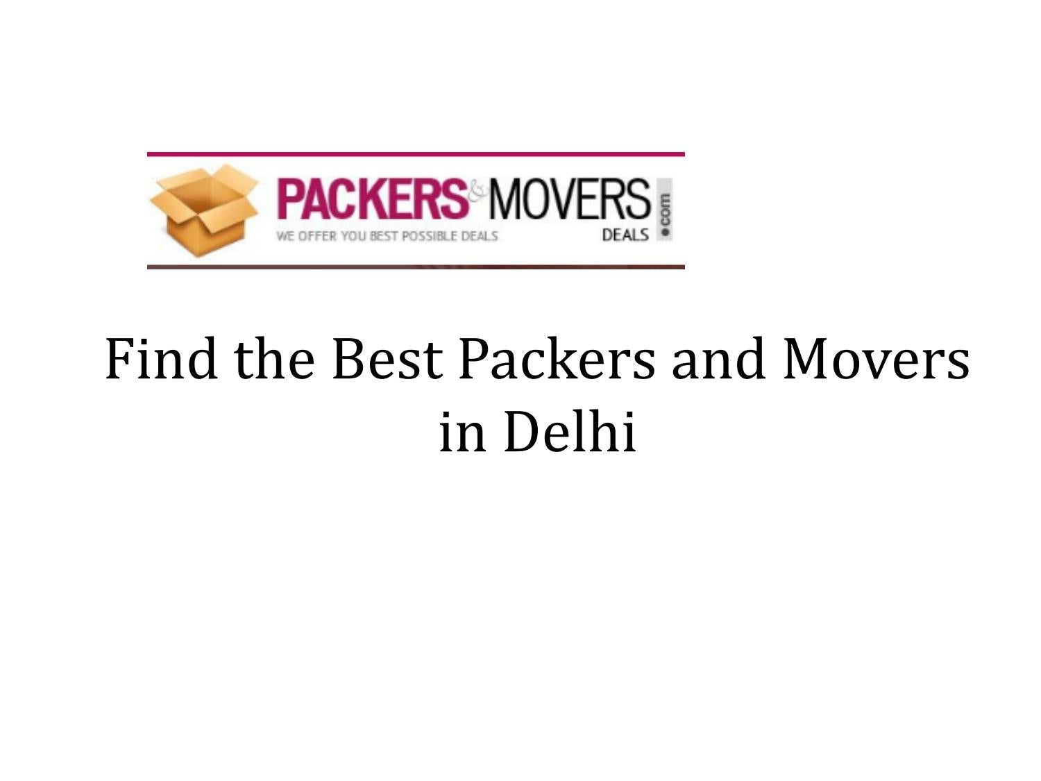 Find the Best Packers and Movers in Delhi