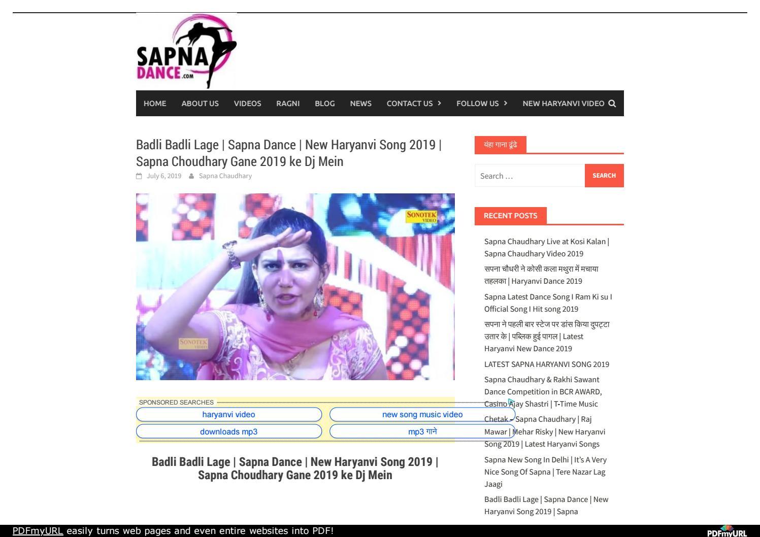 Badli Badli Lage Sapna Dance New Haryanvi Song 2019 Sapna