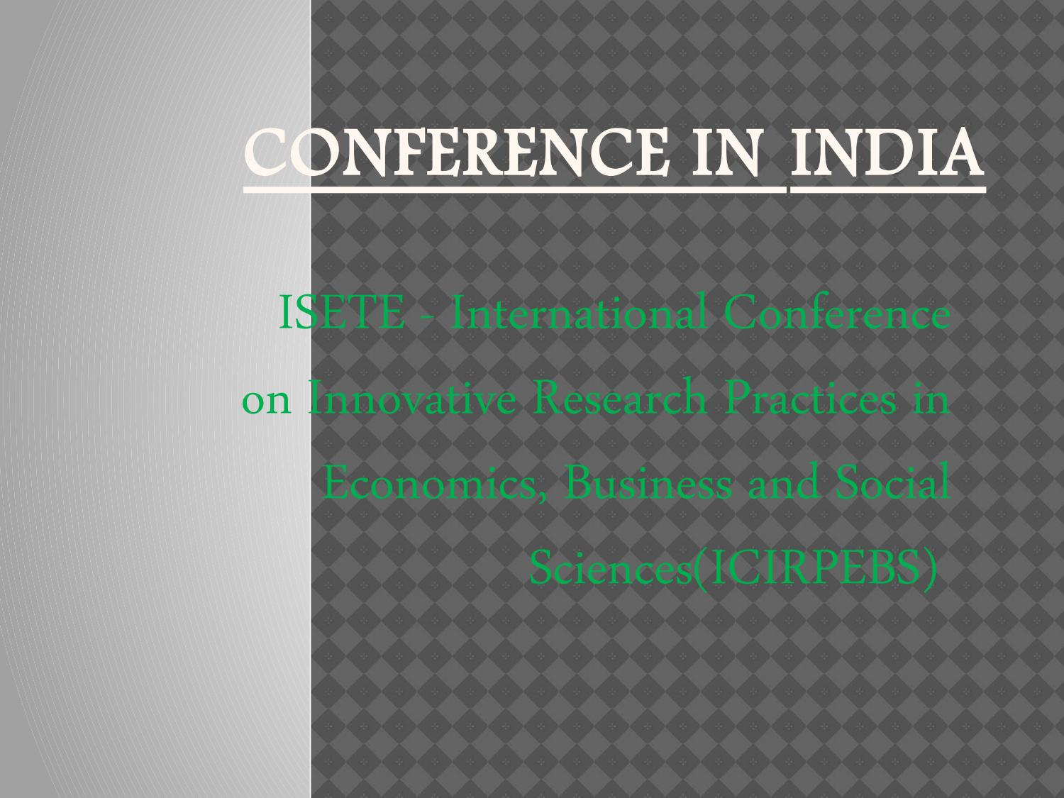 Conference Alerts India by conference Alerts - issuu