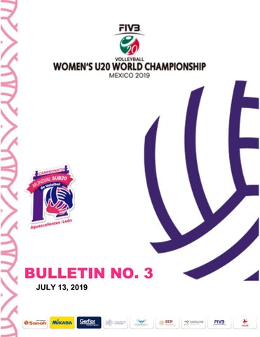 Bulletin No 3 Women´s U20 World Championship, Aguascalientes