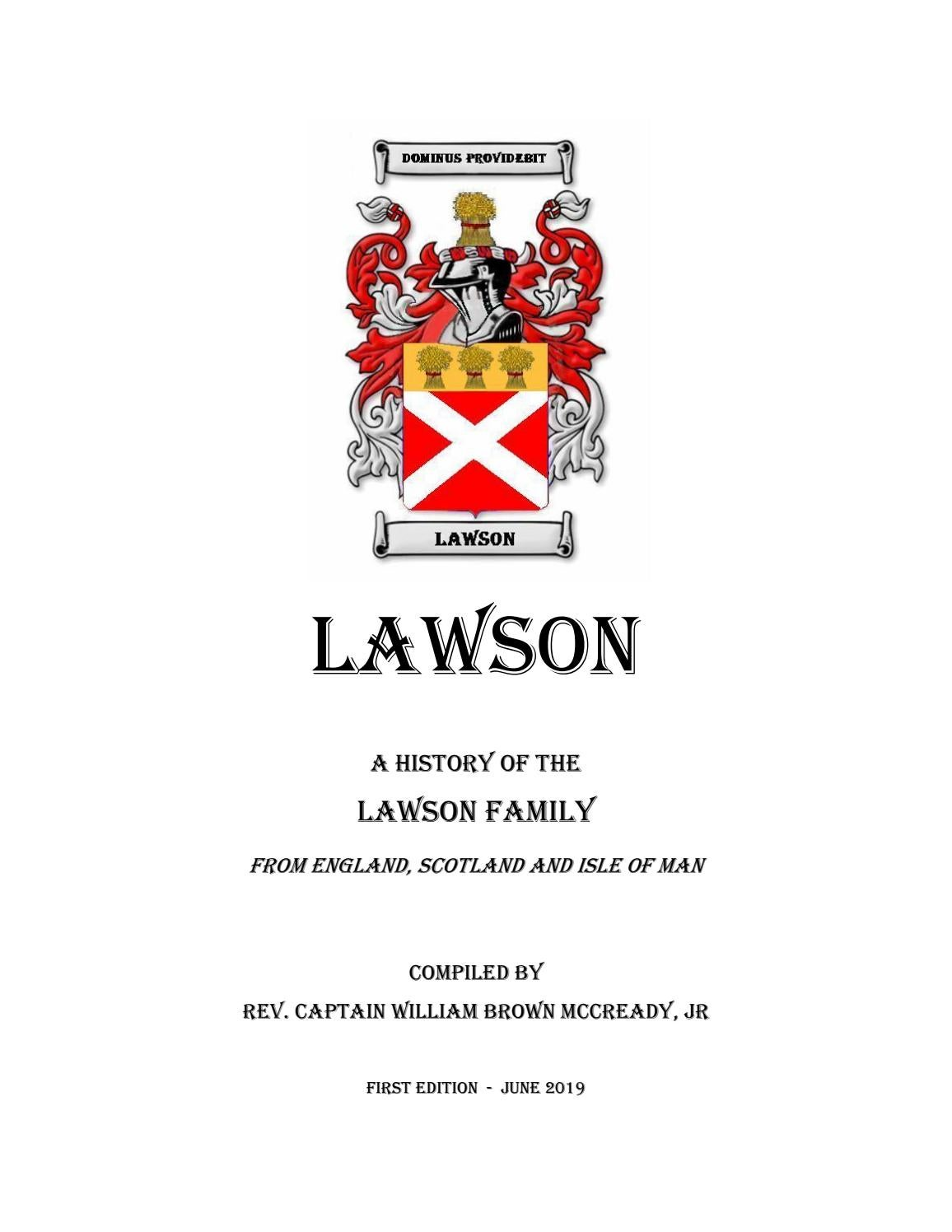 200758b7e LAWSON Family History by William Brown McCready - issuu