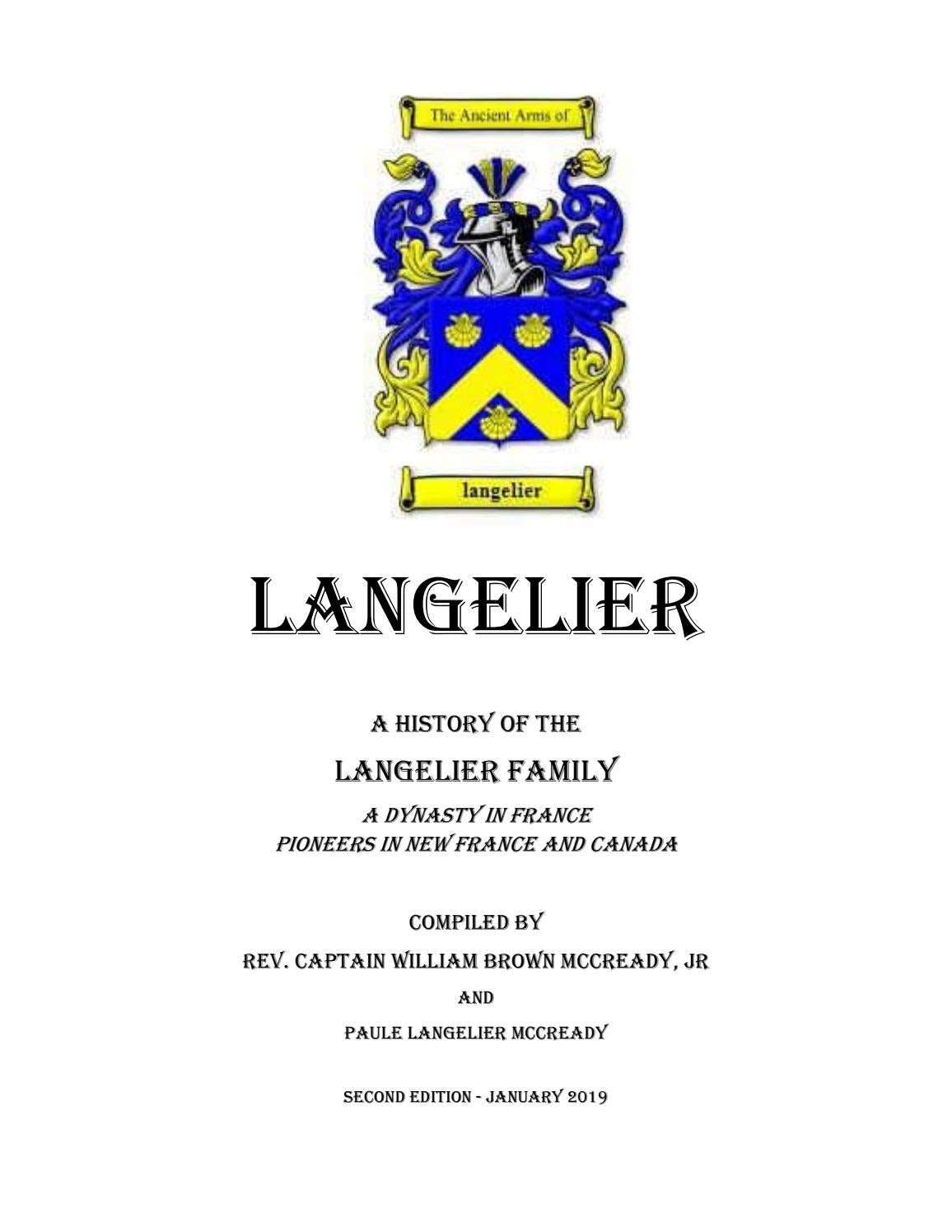 Imprimerie De L Ouest Parisien langelier family history - english editionwilliam brown