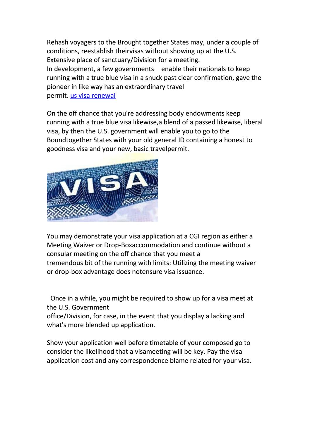 us visa renewal by mahesh rashi - issuu