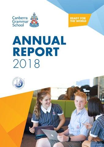 Cgs Annual Report 2018 By Canberra Grammar School Issuu