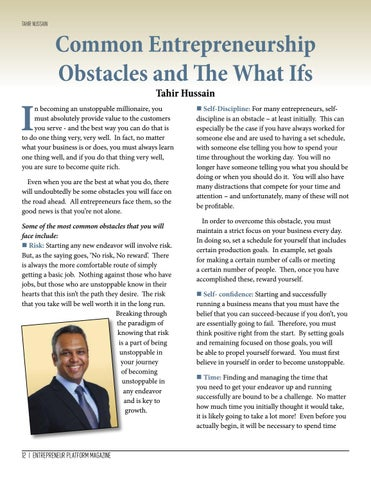 Page 12 of Common Entrepreneurship Obstacles and The What Ifs