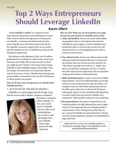 Page 16 of Top 2 Ways Entrepreneurs Should Leverage LinkedIn