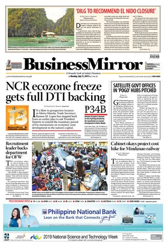 BusinessMirror July 15, 2019 by BusinessMirror - issuu