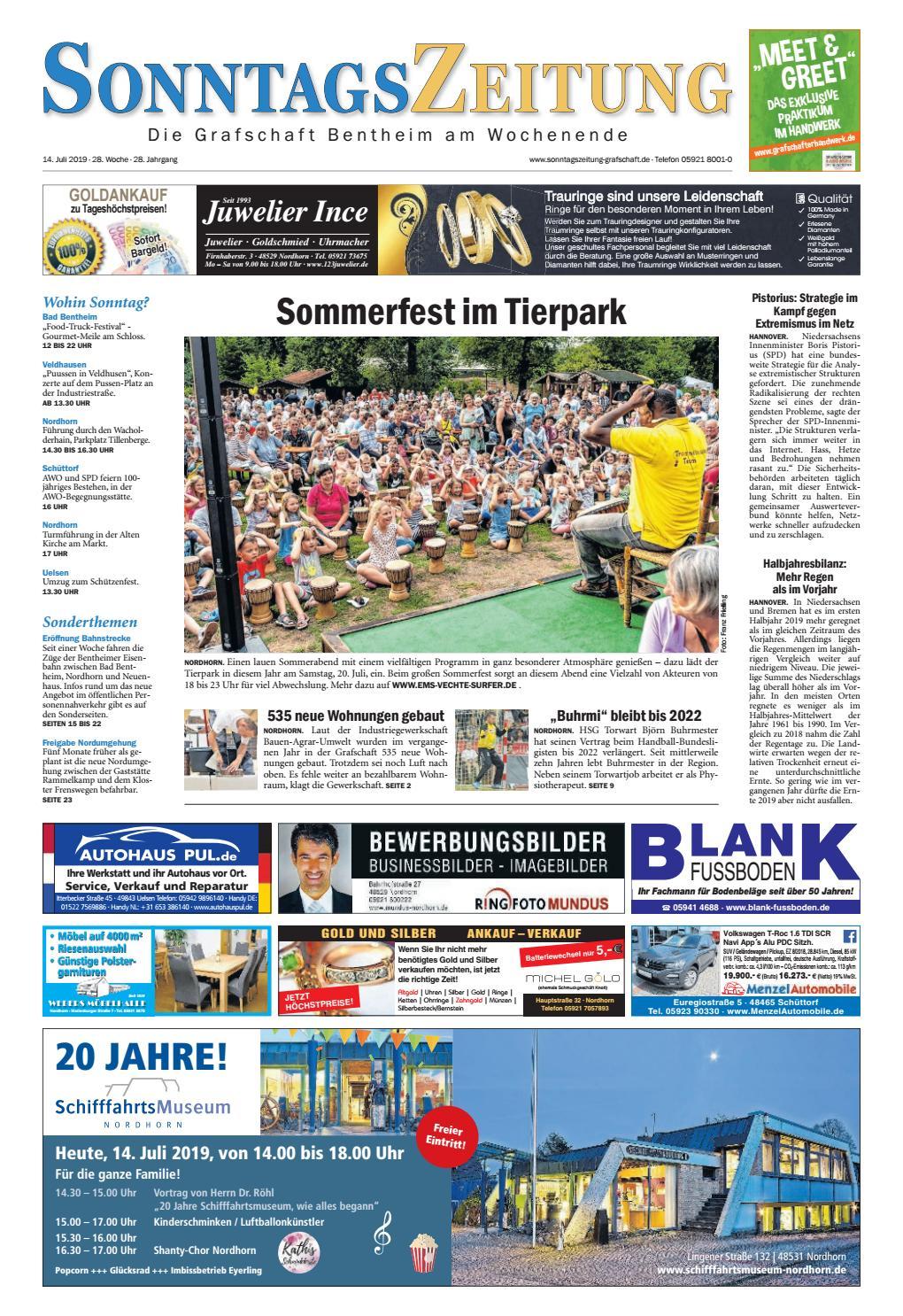 Sonntagszeitung 2019 07 14 By Grafschafter Nachrichten Issuu