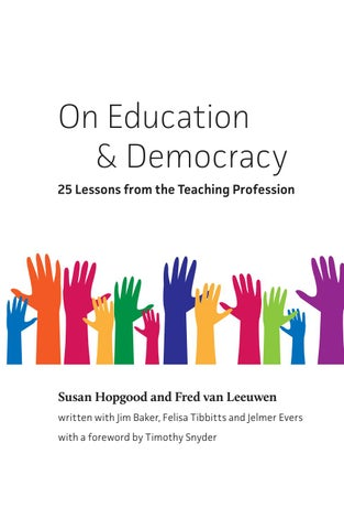On Education & Democracy - 25 Lessons from the Teaching