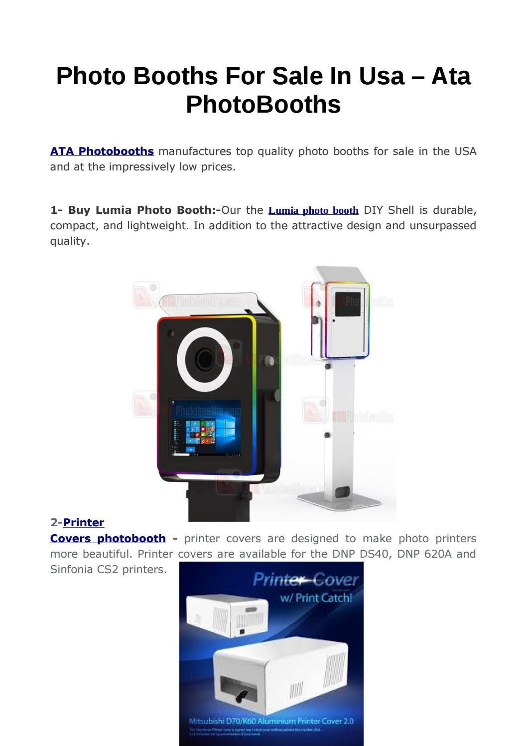 Buy Photo Booths for in Sale USA , Ata Photobooths by ATA