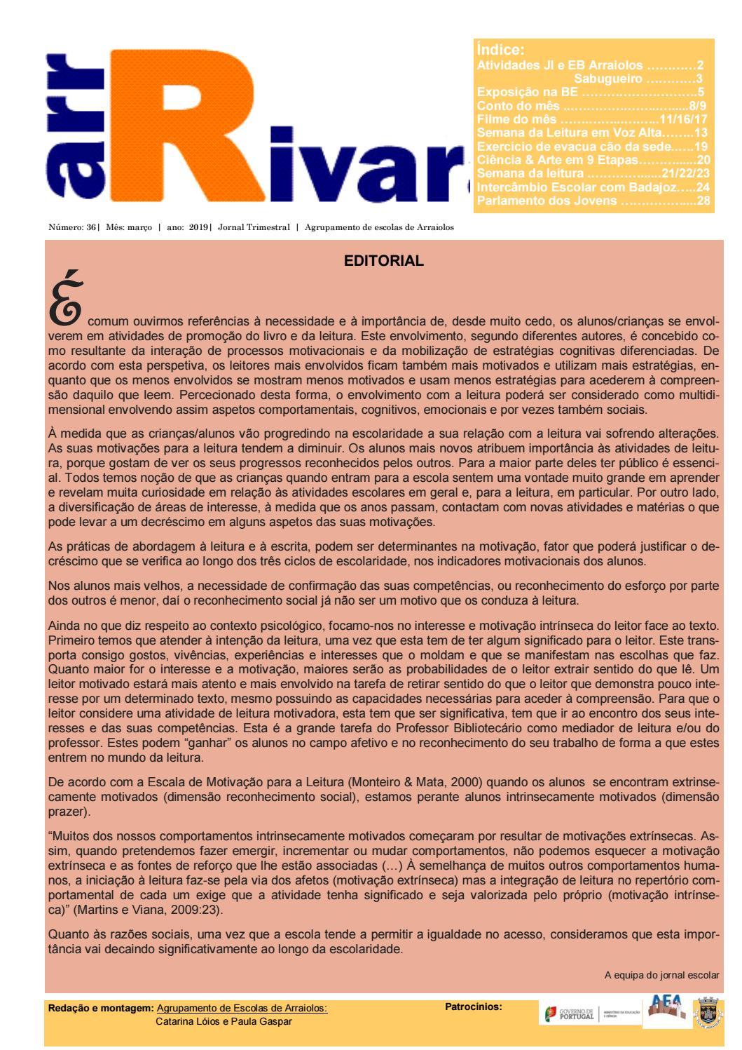 2 Edicao Jornal 2019 By Aearraiolos4 Issuu