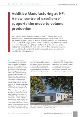 Page 111 of Additive Manufacturing at HP: A new 'centre of excellence' supports the move to volume production