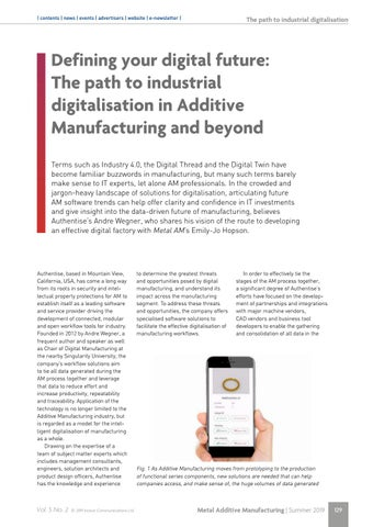 Page 129 of Defining your digital future: The path to industrial digitalisation in Additive Manufacturing and beyond