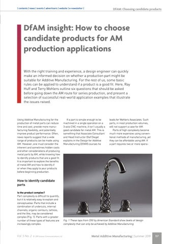 Page 137 of DfAM insight: How to choose candidate products for AM production applications