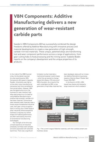 Page 143 of VBN Components: Additive Manufacturing delivers a new generation of wear-resistant carbide parts