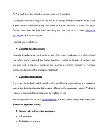 Dissertation hypothesis how to write a literary criticism essay