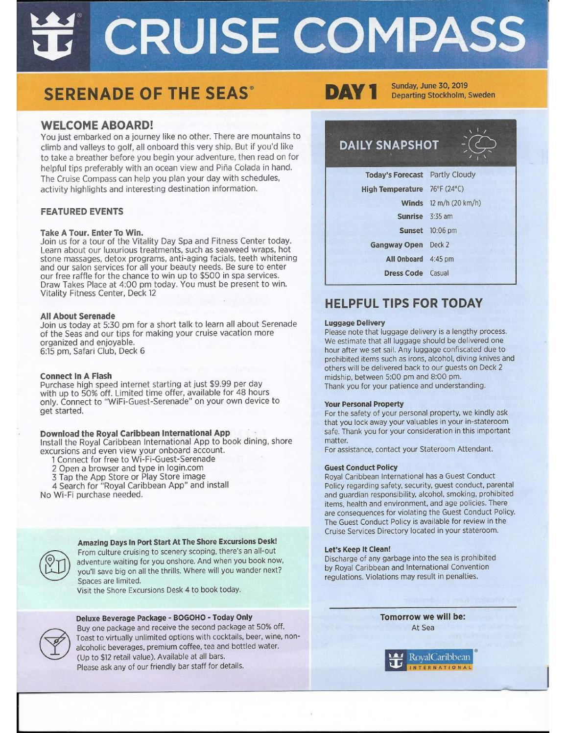 Serenade of the Seas 7-Night Scandinavia and Russia Cruise