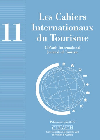 de292dac051564 CirVath International Journal of Tourism 11 by Vatel - issuu