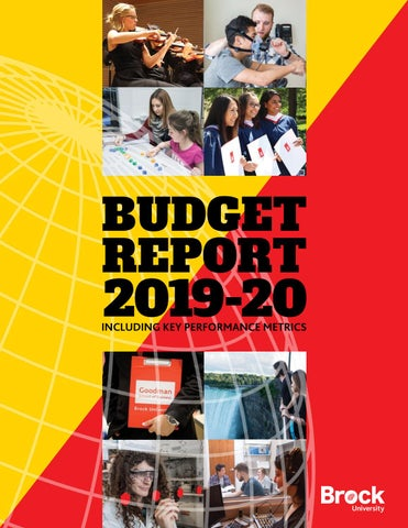 Budget Report 2019-20 by Brock University - issuu