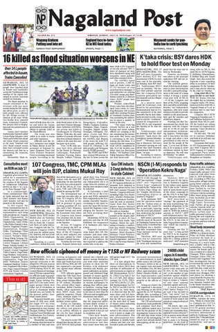 July 14, 2019 by Nagaland Post - issuu